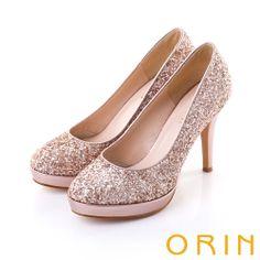 ORIN 浪漫花嫁 耀眼亮片高跟鞋-玫瑰金 - Yahoo!奇摩購物中心