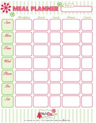 free monthly printable meal planners weekly to do lists calendars