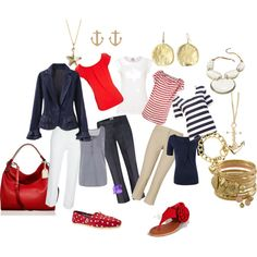 A fashion look from June 2012 featuring white shirt, sleeveless tops and red shirt. Browse and shop related looks.