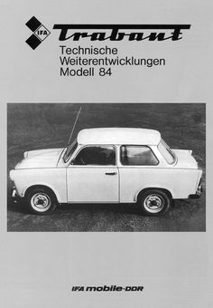 Infamous plastic Trabant car a relic from the former East Germany now considered a collectible auto