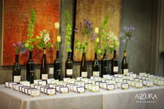 fun idea for placecard table for a winery wedding