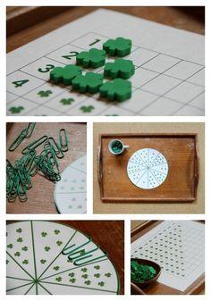 Montessori Math for St. Patrick's Day