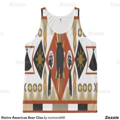 70fe7a8422ea5 Native American Bear Clan All-Over Print Tank Top Native American Shirts,  Printed Tank