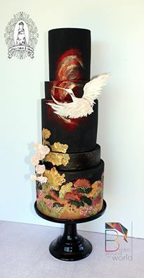Lotties Cakes and Slices, inspired by Japanese formal bridal kimono (chinese wedding cookies) Chinese Cake, Japanese Cake, Chinese Food, Beautiful Wedding Cakes, Beautiful Cakes, Amazing Cakes, Baby Motiv, Wedding Cake Centerpieces, Asian Cake