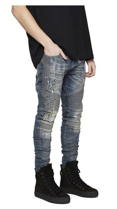 Biker Denim - Paint Wash 68f571ac9b6a2