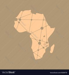 Low poly map of Africa. Molecule And Communication Background. Modern vector brochure or report design template. Connected lines with dots. Download a Free Preview or High Quality Adobe Illustrator Ai, EPS, PDF and High Resolution JPEG versions.