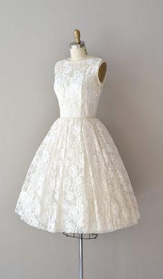 lace 50s wedding dress / 1950s dress / Be Near Me by DearGolden
