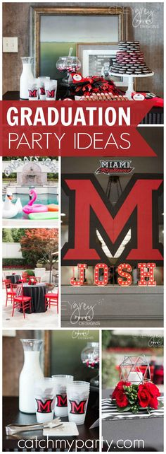 Check out this incredible graduation party! See more party ideas at Catchmyparty.com!