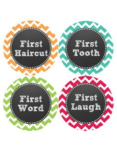 Baby Monthly Milestone Stickers are a perfect way to document baby's growth during the first year of life. Place a baby month sticker on your child's shirt and snap a photo