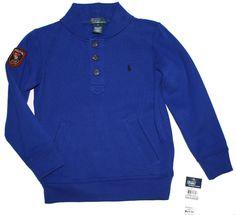 NWT Ralph Lauren Polo Boys Pullover Sweater Collar Blue Long Sleeves 2T  #RalphLauren #DressyEveryday