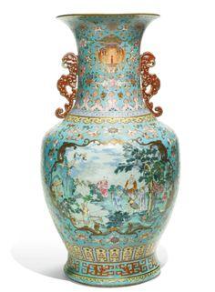 Porcelain Vase, Fine Porcelain, Chinese Auction, Keramik Vase, Japanese Porcelain, Chinese Ceramics, Antique Lamps, Antique China, Chinese Antiques