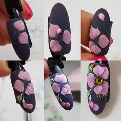 3d Nail Art, 3d Acrylic Nails, Acryl Nails, 3d Nail Designs, Nail Art Designs Videos, Cute Acrylic Nail Designs, 3d Flower Nails, 3d Rose, Christmas Nail Art