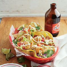 What's your state's beach food? Southern California: Beer-battered Fish Tacos with Chipotle Crema
