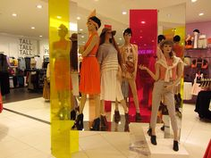 Topshop mannequin grouping UK