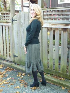 The Walking Rectangles Skirt comes to life.