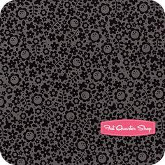 Tuxedo Collection Black Falling Flowers Yardage SKU# C2693-BLACK - Fat Quarter Shop