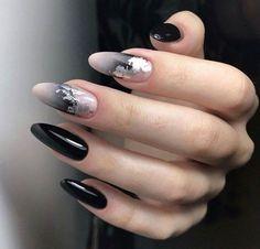 Cute Nail Art Designs Ideas For Stylish Girls # nail # nailart # nail . - Cute nail art designs ideas for stylish girls # nail # nailart # naildesigns – nail art designs & - Cute Nail Art Designs, Black Nail Designs, Cute Nails, Pretty Nails, Hair And Nails, My Nails, Gel Nagel Design, Almond Shape Nails, Black Nail Art