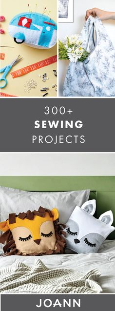 Break out your sewing machine and begin creating fun new DIY projects with the help of these 300+ Easy Sewing Projects from JOANN. With ideas like Fleece Character Throw Pillows and a Striped Baby Quilt, you're sure to find just what you're looking for!