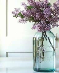simple but pretty - Lisa - could your mom grow wildflowers?  Do you know anyone with a lilac bush?