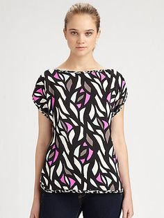 Milly - Stained Glass-Print Top - Saks.com