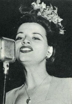 Vocalist, Kay Starr - She performed briefly with Glenn Miller & His Orchestra, but is more associated with Joe Venuti & His Orchestra