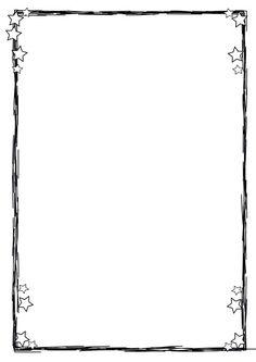 drawn lines & stars paper boarder Borders Free, Simple Borders, Borders And Frames, Borders For Paper, Drawing Borders, Doodle Borders, Page Borders Design, Border Design, Contour Images