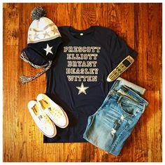 Dallas Cowboys T Shirt / Dak Prescott / Zeke Elliott / Dez