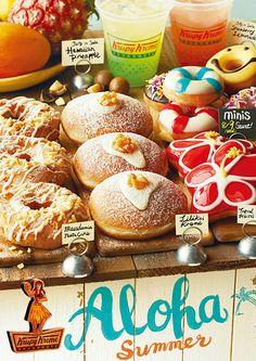 「クリスピー・クリーム・ドーナツ」より ハワイアンテイスト満載の限定ドーナツ 「Aloha Summer」が7月19日新登場! | NEWS | HARAJUKU KAWAii!! STYLE Ketogenic Recipes, Keto Recipes, Fancy Donuts, Donut Logo, Krispy Kreme Doughnut, Keto Results, Cute Food, Keto Dinner, Food Menu
