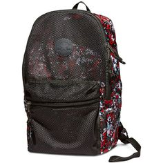 Converse Packable Mesh Backpack – black ($30) ❤ liked on Polyvore featuring bags, backpacks, black, knapsack bag, mesh backpack, mesh bag, converse bag and backpack bags