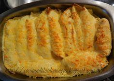 CREPES DE POLLO CON CHAMPINONES Crepes Rellenos, Waffles, Pancakes, Apple Pie, Macaroni And Cheese, Delish, Ethnic Recipes, Desserts, Mille Crepe