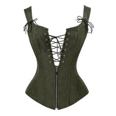 Black Red Strapped Leather Corset Lace Up Top Bustier Deep V Neck Bustino Waist Trainer Espartilhos Corses Mujer Green XXL Corset Outfit, Sexy Corset, Lace Corset, Green Corset, Pirate Corset, Steampunk Corset, Victorian Steampunk, Steampunk Pirate, Steampunk Costume