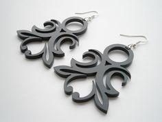 Lasercut  Acrylic Earrings by LaserCutJewelry