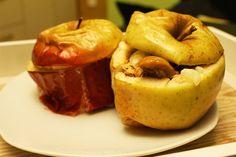 Krówkowe, pieczone jabłka z płatkami owsianymi i cynamonem - zdrowy, niskokaloryczny deser - pieczone jabłka przepis (najlepszy!)