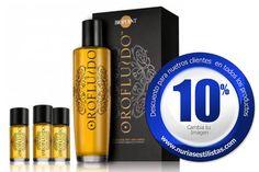 Oro fluido Revlon Es uno de esos tratamientos de rápida absorción y sin necesidad de aclarado posterior, para todo tipo de cabellos. Proporciona, una sedosidad, ligereza y brillo, gracias a su composición a base de aceites naturales.