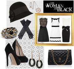 """Woman in black"" by elenastrelkova on Polyvore"
