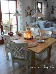 U nás na kopečku: od nás Relax, Dining Table, House Styles, Furniture, Home Decor, Instagram, Fashion, Moda, Decoration Home