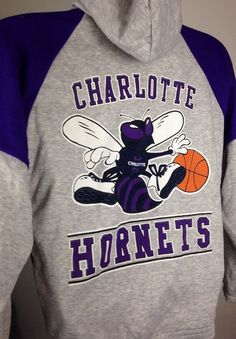 Vintage Starter Charlotte Hornets Coat Jacket Hoodie Small Made in USA | eBay