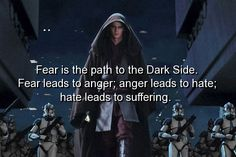 movie quotes | movie, star wars, quotes, sayings, fear, anger, hate, suffer