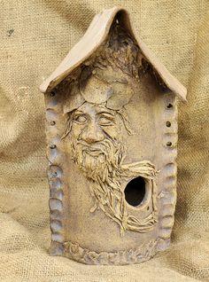 Birdhouse by Cold Comfort Pottery Ceramic Houses, Ceramic Birds, Ceramic Pottery, Ceramics Projects, Clay Projects, Birdhouse In Your Soul, Kids Clay, Birdhouse Designs, Bird Boxes