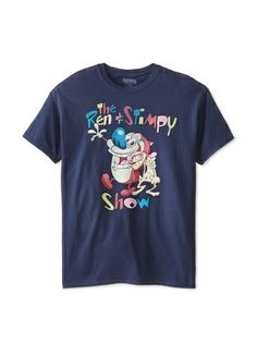 46% OFF Vintage Men's Ren and Stimpy T-Shirt (Blue)
