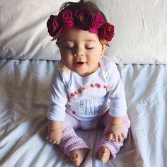 Happy, hippie baby