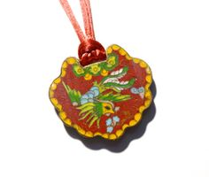 Chinese Export Cloisonné Lock Necklace  #chineseexport #asianantiques #cloissonne #chinoiserie
