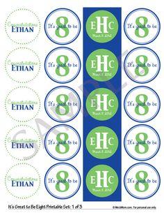 Personalized LDS Baptism Printable - Dark Blue/Bright Green. $9.95, via Etsy.