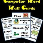 Word Walls are a wonderful way to increase student's vocabulary on any subject matter. This resource includes 76 computer terms with illustrations. Computer Lab Posters, Computer Rules, Computer Lab Lessons, Computer Teacher, Technology Posters, Computer Class, Teaching Technology, Educational Technology, Computer Virus