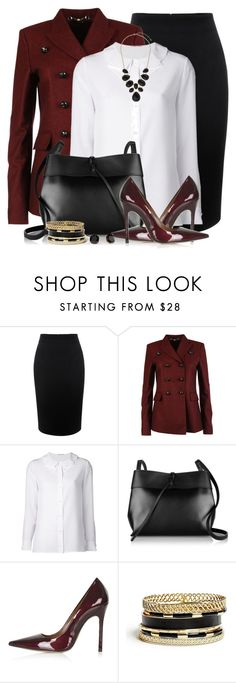 """""""Office Ready"""" by brendariley-1 ❤ liked on Polyvore featuring Alexander McQueen, Gucci, Yves Saint Laurent, Kara, Topshop, GUESS, Kate Spade and Dorothy Perkins"""