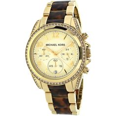 ff94d66423a2 Overstock.com: Online Shopping - Bedding, Furniture, Electronics, Jewelry,  Clothing & more. Michael Kors Women's MK6094 Blair Chronograph Two-tone  Watch