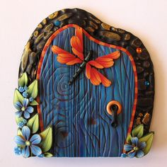 Fairy Door Pixie Portal Kids Room Decor with a by Claybykim, $18.00