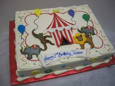 Buttercream Icing Only Circus cake Sheet Cakes Pinterest