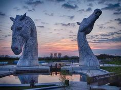 The Kelpies sculptures by Andy Scott in Scotland