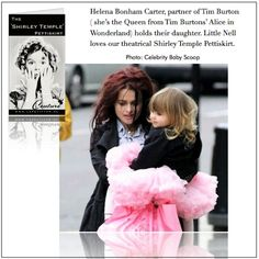 Helena with her daughter - Helena Bonham Carter Photo - Fanpop fanclubs Carter Family, Helena Bonham Carter, Queen, Celebrity Babies, Tim Burton, My Idol, Tulle, Daughter, Actresses